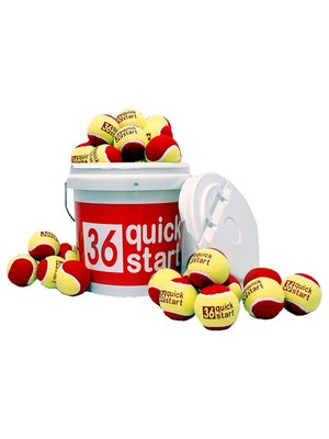 Quick Start Red Felt 30 Ball Bucket