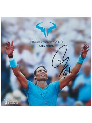 9b017dcd Product image of Rafael Nadal 2019 Official Calendar - Autographed