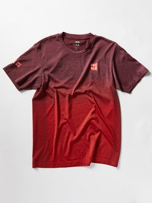 2e7dc4066 Product image of Roger Federer Autographed 19 Uniqlo Practice Shirt Red