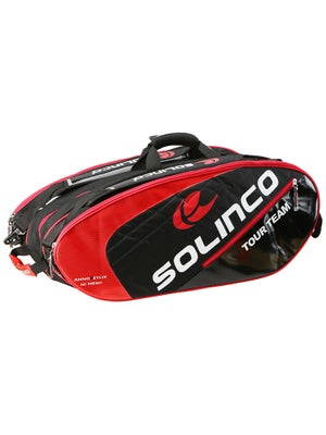 Solinco 12 Pack Bag Black/Red
