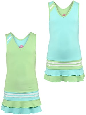 Switch Girl's Reversible Dress Green/Aqua