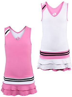 Switch Girl's Reversible Dress White/Pink