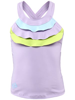 Switch Girl's Ruffle Tank Purple/Blue/Lime