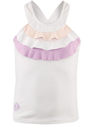 Switch Girl's Ruffle Tank White/Purple/Pink