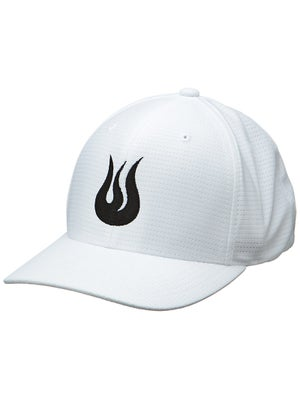 Solfire Men's Flame Logo Fitted Mesh Hat White/Black