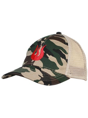 Solfire Men's Trucker Hat Camo/Red