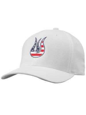 Solfire Men's USA Flame Fitted Mesh Hat White