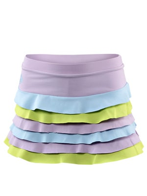 Switch Girl's Ruffle Skort Purple/Blue/Lime