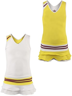 Switch Girl's Reversible Dress White/Yellow