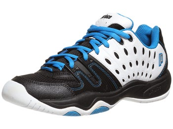 Prince T22 White/Black/Blue Junior Shoes