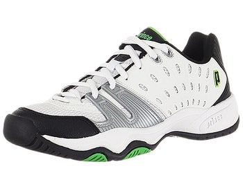 Prince T22 White/Black/Green Junior Shoes