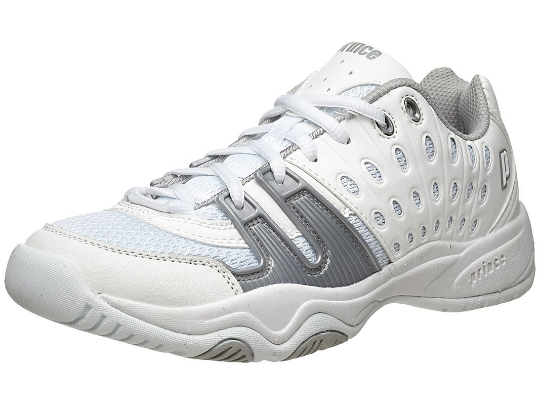 Prince T22 White//Grey Junior Shoes