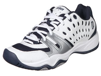 Prince T22 White/Navy/Silver Junior Shoes