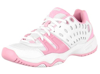 Prince T22 White/Pink Junior Shoes