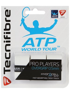 Tecnifibre ATP Pro Players Overgrip (3 Pack) White
