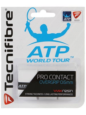 Tecnifibre ATP Pro Contact Overgrip (3 Pack) White
