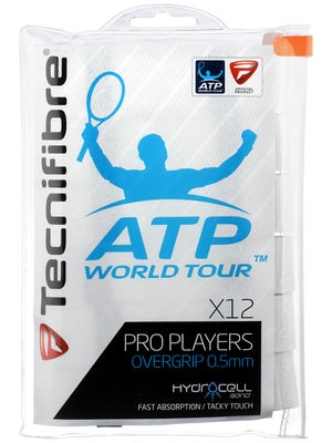 Tecnifibre ATP Pro Players Overgrip 12 Pack White