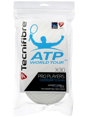 Tecnifibre ATP Pro Players Overgrip 30 Pack White