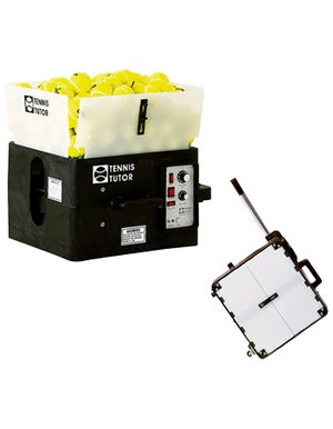 Tennis Tutor Ball Machine With Heavy Duty Battery