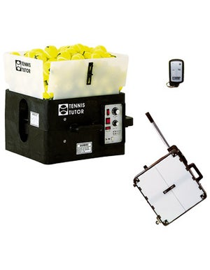Tennis Tutor Ball Machine With Wireless Remote