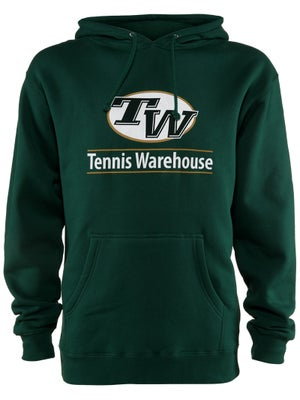 Tennis Warehouse Men's Logo Hooded Sweatshirt - Green