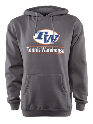 Tennis Warehouse Men's Logo Hooded Sweatshirt - Grey