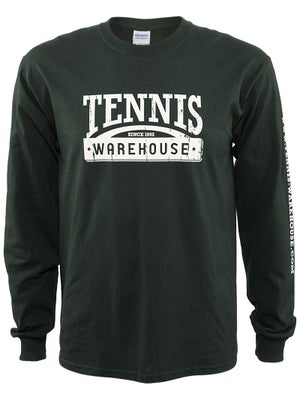 Tennis Warehouse Men's Long Sleeve Distressed T-Shirt