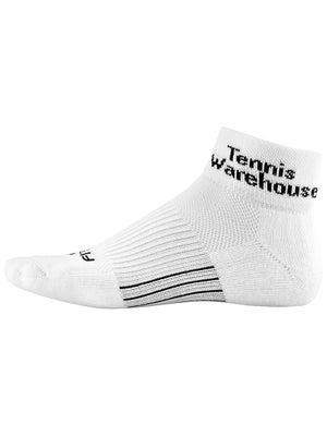 Tennis Warehouse Fitsok Quarter Socks White