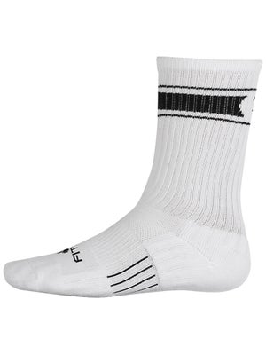 TW Fitsok Retro Stripe Crew Socks White/Black
