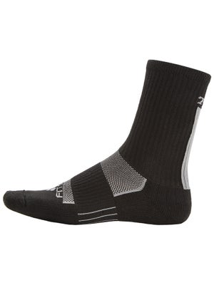 TW Fitsok Vert Stripe Crew Socks Black/Grey