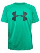 UA Boy's Winter Tech Big Logo Crew Green M