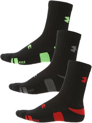 Under Armour Heatgear 3-Pack Crew Sock Asst