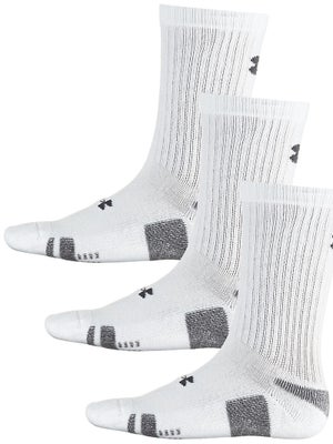 Under Armour Heatgear 3-Pack Crew Sock White