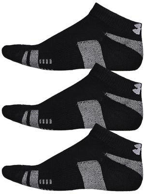 Under Armour Heatgear 3-Pack Low Cut Sock Black