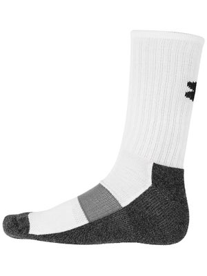 Under Armour Heatgear Performance Crew Sock Wh/Bk