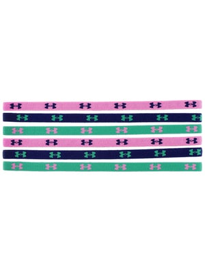 Under Armour Sport Hairbands 6-Pack Green/Purple/Pink