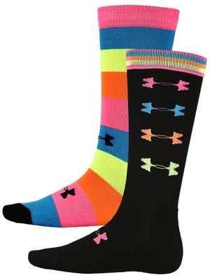 Under Armour Recur Neon 2-Pack Over Calf Wom's Sock