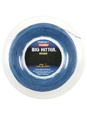 Tourna Poly Big Hitter Blue Rough String 17 Reel