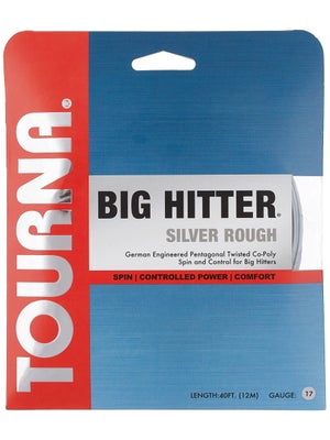 Tourna Poly Big Hitter Silver Rough String 17
