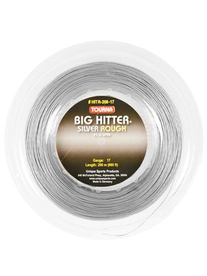 Tourna Poly Big Hitter Silver Rough String 17 Reel