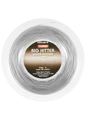 Tourna Poly Big Hitter Silver Rough String 16 Reel