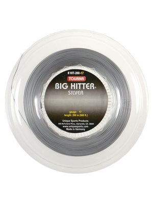 Tourna Poly Big Hitter Silver String 17 Reel