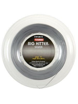 Tourna Poly Big Hitter Silver String 16 Reel