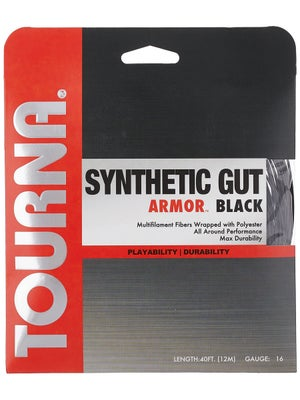Tourna Synthetic Gut Armor String 16 Black