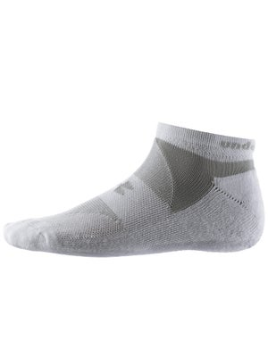 Under Armour Charged Cotton 3-Pack No Show Sock Wh/Gy