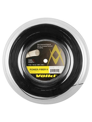 Volkl Power Fiber II 17 String Reel Black