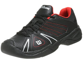Wilson Open Black/Red Junior Shoes
