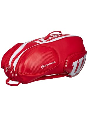 Product Image Of Wilson Pro Staff Red White 9 Pack Bag
