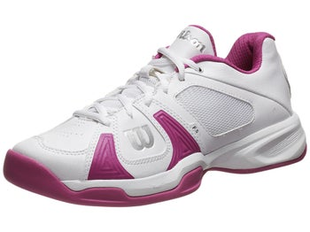 Wilson Rush Open White/Fuchsia Women's Shoe