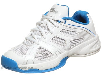 Wilson Rush Pro White/Blue Junior Shoes